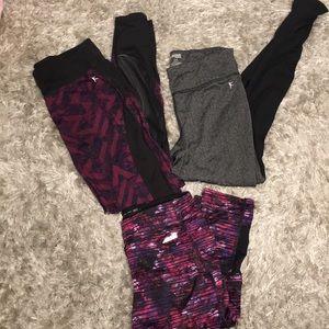 Lot of workout leggings